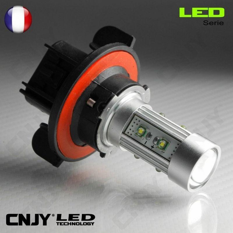 1 AMPOULE LED H13 9008 50W CREE LENTICULAIRE 12V POUR FEUX DE JOUR & PHARE ANTI BROUILLARD