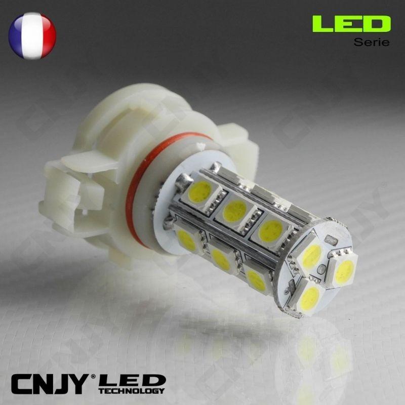1 AMPOULE LED H16 18LED SMD PSX24W PS19W 12V POUR FEUX DE JOUR & PHARE ANTI BROUILLARD