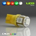 1 AMPOULE T10 12V W5W 5 LED SMD 5050 W2.1X9.5D PROXYLED AUTO TUNING