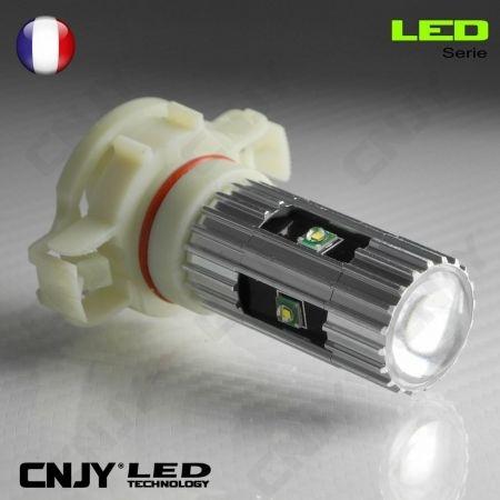 1 AMPOULE LED H16 25W CREE LENTICULAIRE PSX24W PS19W SPECIAL FEUX DE JOUR REPETITEUR ANTI BROUILLARD