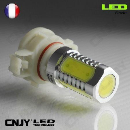 1 AMPOULE LED H16 8W HLU 8000K PSX24W PS19W 12V POUR FEUX DE JOUR & PHARE ANTI BROUILLARD