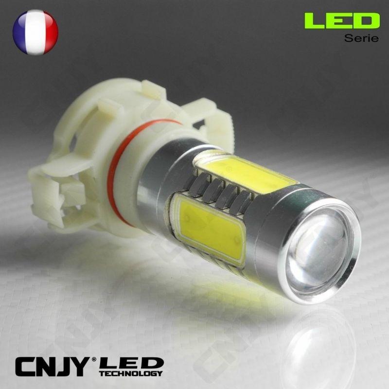 1 AMPOULE LED H16 11W HLU+CREE LENTICULAIRE PSX24W PS19W 12V POUR FEUX DE JOUR & PHARE ANTI BROUILLARD
