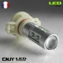 1 AMPOULE LED H16 50W CREE LENTICULAIRE PSX24W PS19W 12V POUR FEUX DE JOUR & PHARE ANTI BROUILLARD