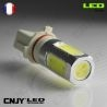 1 AMPOULE LED P13W 8W HLU 8000K 9009 5502 P13 PSX26W 12V POUR FEUX DE JOUR & PHARE ANTI BROUILLARD