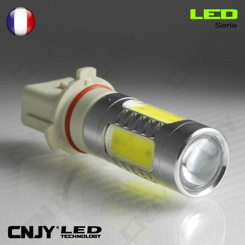 1 AMPOULE LED P13W 11W HLU+CREE LENTICULAIRE 9009 5502 P13 PSX26W 12V POUR FEUX DE JOUR & PHARE ANTI BROUILLARD