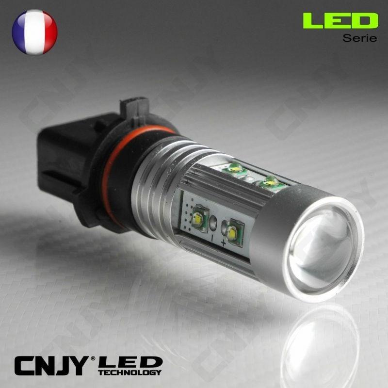 1 AMPOULE LED P13W 50W CREE LENTICULAIRE 9009 5502 P13 PSX26W 12V POUR FEUX DE JOUR & PHARE ANTI BROUILLARD
