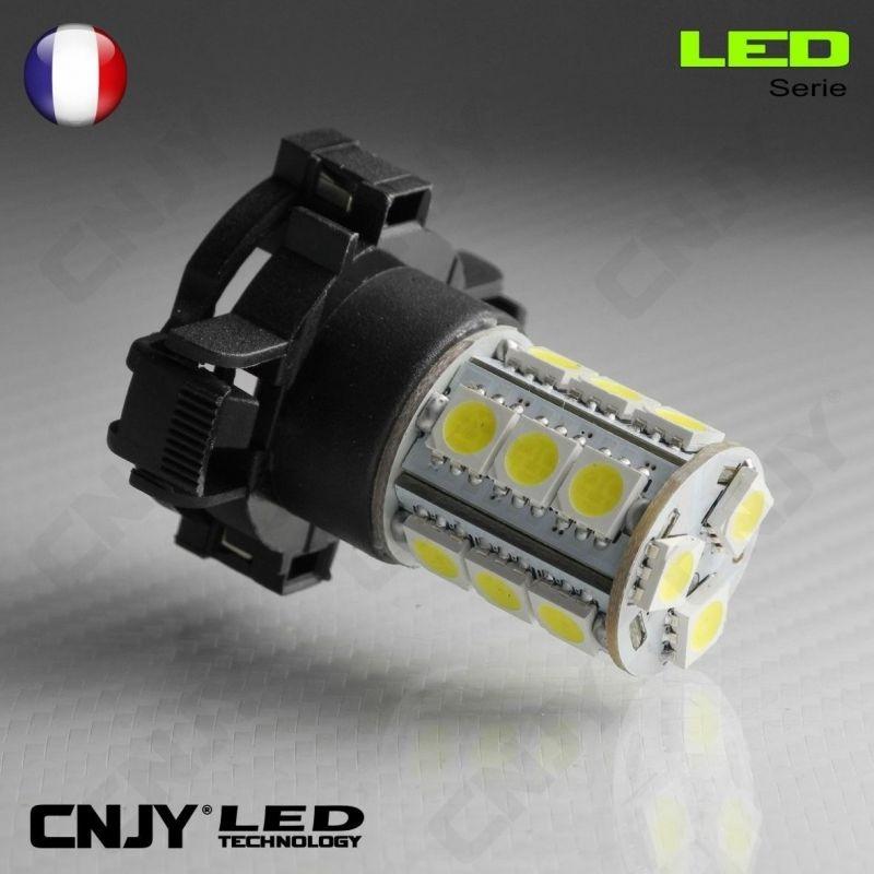 1 AMPOULE LED PY24W 18SMD PGU20-4 5200 12190 12V POUR FEUX DE JOUR & PHARE ANTI BROUILLARD