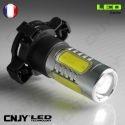 1 AMPOULE LED PY24W 11W HLU+CREE LENTICULAIRE PGU20-4 5200 12190 12V POUR FEUX DE JOUR & PHARE ANTI BROUILLARD