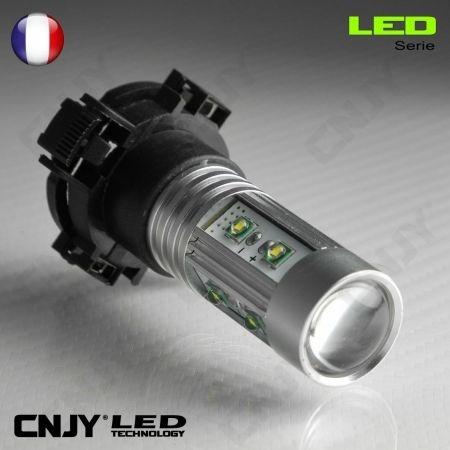 1 AMPOULE LED PY24W 50W CREE LENTICULAIRE PGU20-4 5200 12190 12V POUR FEUX DE JOUR & PHARE ANTI BROUILLARD