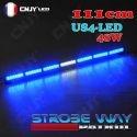 Rampe de défilement magnétique led 12v bleu