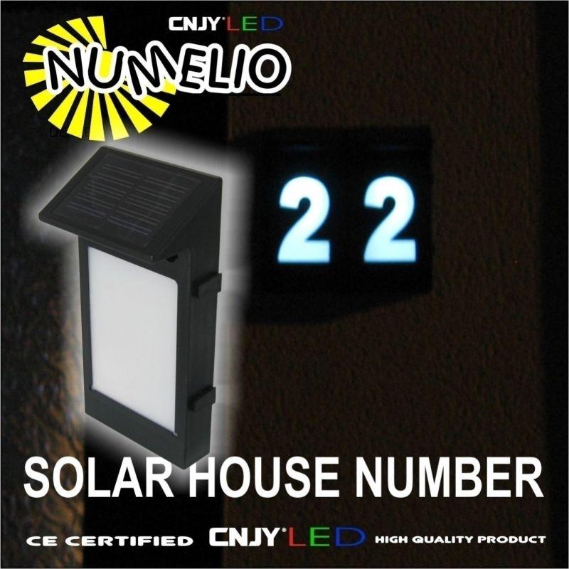 1 NUMERO DE MAISON SOLAIRE LUMINEUX A LED NUMELIO ALLUMAGE AUTOMATIQUE-TOUT NUMERO- PANNEAU SOLAIRE