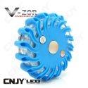 Balise led Vzor bleu pour signalisation & balisage routier autonome magnétique et rechargeable
