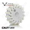 Balise led Vzor blanc pour signalisation & balisage routier autonome magnétique et rechargeable