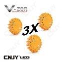 Gyrophare balise de signalisation lumineuse LED avec base magnétique orange