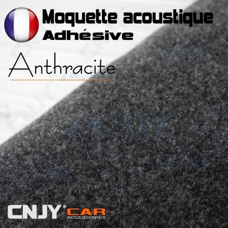 ROULEAU DE MOQUETTE ACOUSTIQUE ADHESIVE GRIS ANTHRACITE 70/140cm