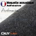 ROULEAU DE MOQUETTE ACOUSTIQUE ADHESIVE ANTHRACITE
