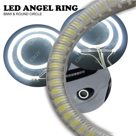 KIT DE 2 ANNEAUX LUMINEUX ANGEL EYES CERCLE A LED