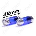 2 AMPOULE POLAR XENON C10W 41~42mm PLASMA WHITE 5000-6000K ECLAIRAGE DE PLAQUE PLAFONNIER