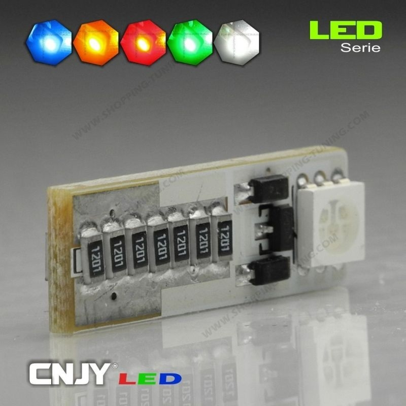 1 AMPOULE LED W5W T10 12V 2 LED SMD 5050 ANTI ERREUR CANBUS ODB