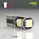 1 AMPOULE LED W5W T10 12V 3 LED SMD 5050 ANTI ERREUR CANBUS ODB