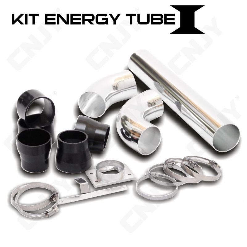 KIT ENERGY TUBE 1 ALUMINIUM HOSE - SET COMPLET POUR INSTALLATION ADMISSION DIRECT RIGIDE FILTRE AUTO