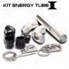 KIT ENERGY TUBE 1 ALUMINIUM HOSE - SET COMPLET POUR INSTALLATION ADMISSION DIRECT RIGIDE FILTRE AUTO