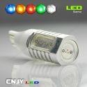 1 AMPOULE LED W16W T15 12V 4LED HLU 8W
