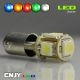 1 AMPOULE BA9S T4W 5 LED 5050SMD 12V POLARISEE CANBUS ANTI ERREUR ODB