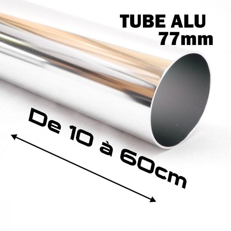 1 TUBE ALUMINIUM POUR LE MONTAGE FILTRE D'ADMISSION DIRECT 77MM DE DIAMETRE .