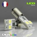 1 AMPOULE BA9S T4W 4 LED 5050SMD 12V BI-POLAIRE CANBUS ANTI ERREUR ODB