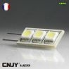 1 AMPOULE LED G4 3 LED SMD 5050 12V VDC BLANC FROID MAISON BATEAU CAMPING-CAR