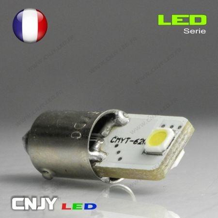 1 AMPOULE BAX9S H6W 2 LED CERAMIQUE 3535 12V CANBUS ANTI ERREUR ODB SPECIAL AUDI TT