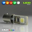 1 AMPOULE BA9S T4W 2 LED 5050SMD 12V POLARISEE CANBUS ANTI ERREUR ODB