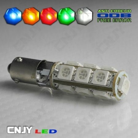 1 AMPOULE BAX9S H6W 13 LED 5050SMD 12V POLARISEE CANBUS ANTI ERREUR ODB