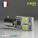 1 AMPOULE BAX9S H6W 4 LED 5050SMD 12V BI-POLAIRE CANBUS ANTI ERREUR ODB