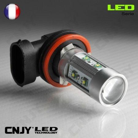1 AMPOULE LED H16 COUDEE 50W CREE LENTICULAIRE 12V POUR FEUX DE JOUR & PHARE ANTI BROUILLARD