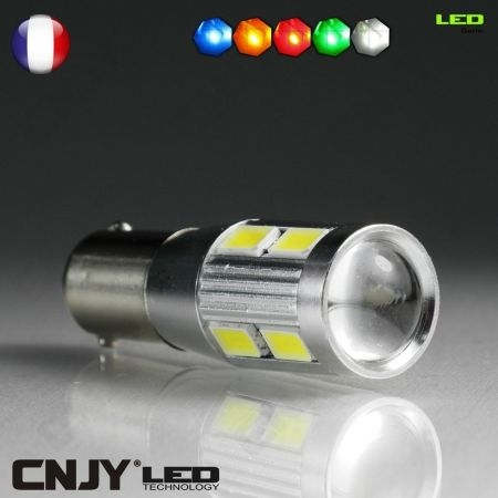 1 AMPOULE BAX9S H6W A LED TITAN 5630SMD 12V POLARISE CANBUS ANTI ERREUR ODB LENTICULAIRE