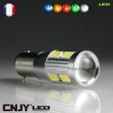 1 AMPOULE BAX9S H6W A LED TITAN 5630SMD 12V POLARISE CANBUS ANTI ERREUR ODB LENTICULAIRE