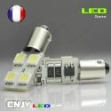1 AMPOULE BAX9S H6W 4 LED 5050SMD 12V BI-POLAIRE CANBUS ANTI ERREUR ODB special plafonnier