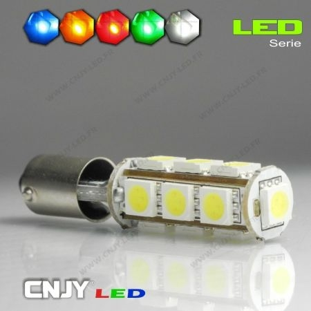 1 AMPOULE BAY9S H21W 13 LED 5050SMD 12V POLARISEE CANBUS ANTI ERREUR ODB