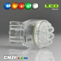 1 AMPOULE LED T20 7440 TYPE W21W 9LED RONDE