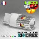 1 AMPOULE LED 25W T20 7440 TYPE W21W 5 CREE LED + LENTILLE