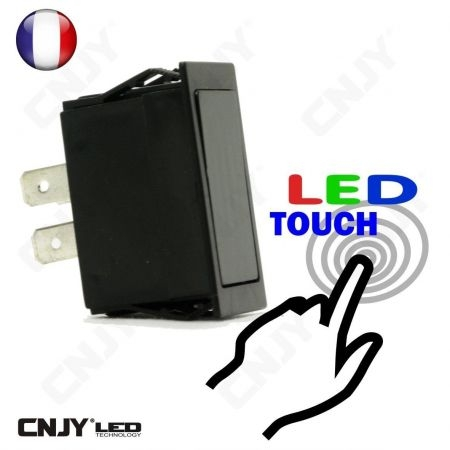 INTERRUPTEUR TOUCH LED SWITCH ON/OFF 12V TACTILE  POUR AUTO MOTO IP54