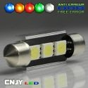 1 AMPOULE ANTI ERREUR TYPE NAVETTE C5W 12V A 3 LED SMD 39MM