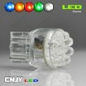 1 AMPOULE LED T20 7443 TYPE W21W 9LED RONDE