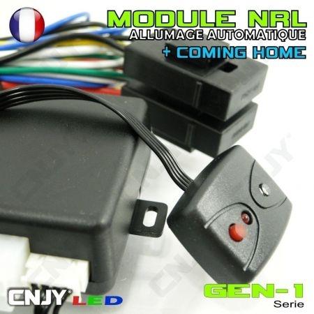 """MODULE NRL-GEN1 Boitier d'allumage automatique de vos feux de croisement et fonction """"Coming Home"""" 12VDC"""