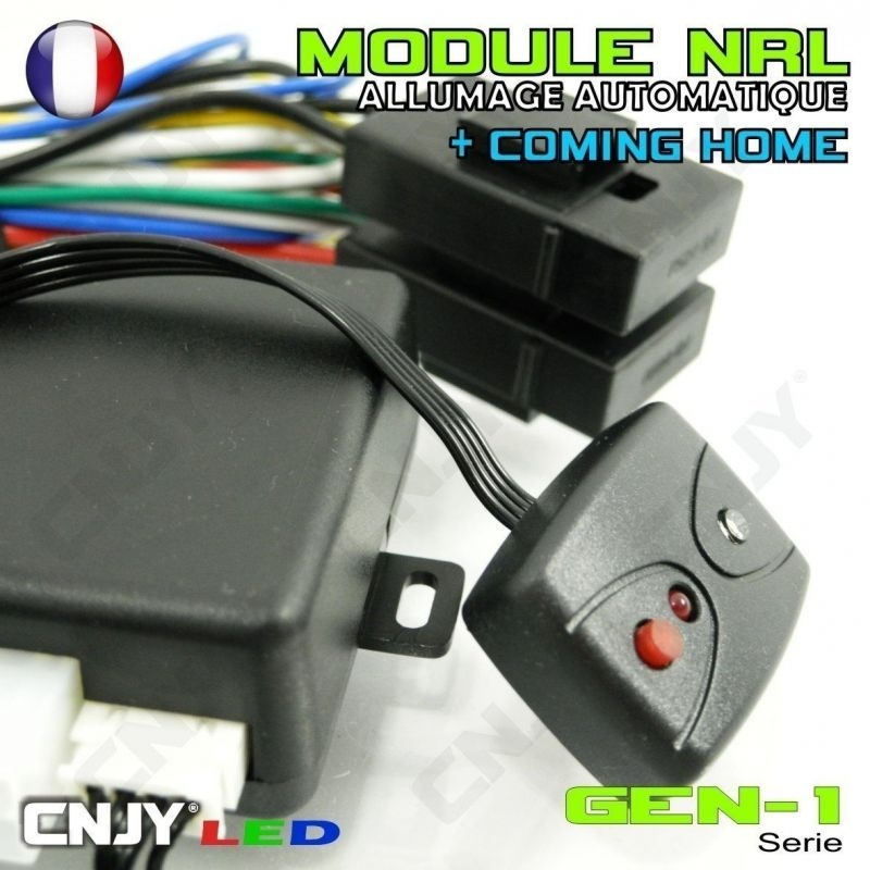 """MODULE NRL - GEN1 - Boitier d'allumage automatique de vos feux de croisement et fonction """"Coming Home"""" 12VDC"""