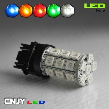 1 AMPOULE LED 12V T25 3157 TYPE P27/7W W27/7W 27 LED SMD 5050