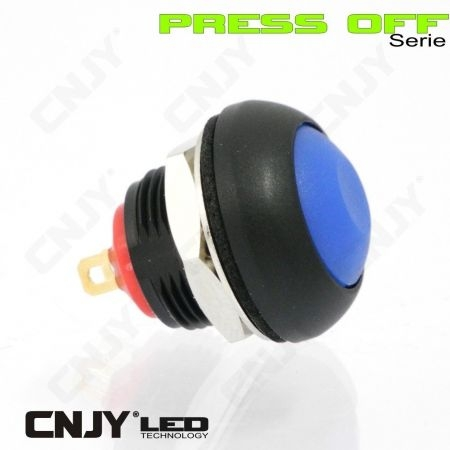 "BOUTON POUSSOIR ETANCHE ""OFF"" SOUS PRESSION - ON/OFF/ON - PRESS OFF SWITCH CONTROL - AUTO-MOTO 12V -8AMP"