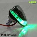 1 PAIRE DE GICLEUR LAVE GLACE A LED CHROME-COULEUR MONO- AUTO TUNING 12V